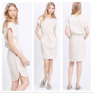 Vince stretch linen drawstring dress
